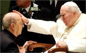 Pope Paul Giving the Papal Blessing to Fr. Marciel