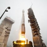 A secret U.S. spy satellite launched into space atop a 19-story rocket