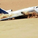 The Boeing 727, was purposely crashed into the Sonoran Desert in Mexico with a combination of £150,000 test dummies and sand bags acting as passengers