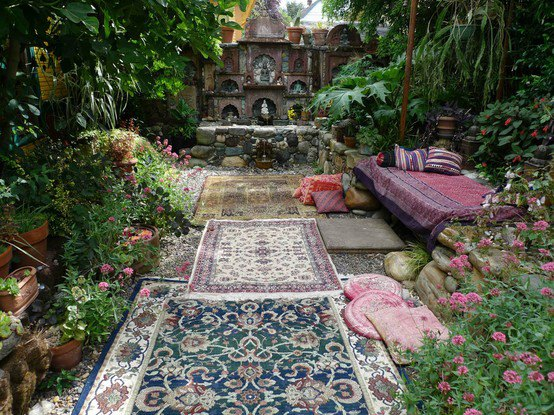 Peaceful chic meditation rooms for Gartengestaltung orientalisch